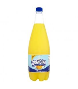 Orangina Zero Orzeźwiający napój gazowany z sokiem i miąższem pomarańczy 1,4 l
