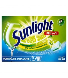 Sunlight All in 1 Tabletki do zmywarki 455 g (26 sztuk)