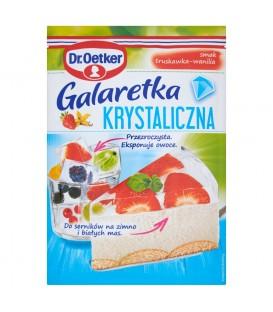 Dr. Oetker Galaretka krystaliczna smak truskawka-wanilia 77 g