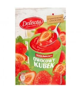 Delecta Owocowy kubek Kisiel o smaku truskawkowym 30 g