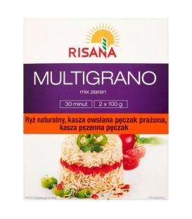 Risana Multigrano Mix ziaren z kaszą owsianą pęczak prażoną 200 g (2 torebki)