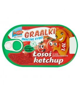 GRAAL Graalki Smaczne rybki Łosoś w sosie pomidorowym a'la ketchup 100 g