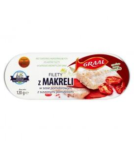 GRAAL Filety z makreli w sosie pomidorowym z suszonymi pomidorami 120 g