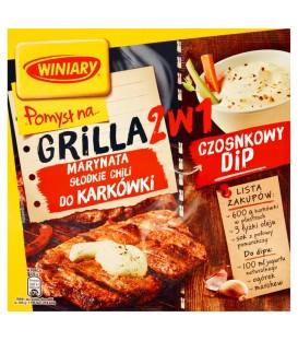 Winiary Pomysł na... Grilla 2w1 Marynata słodkie chili do karkówki i Czosnkowy dip 30 g