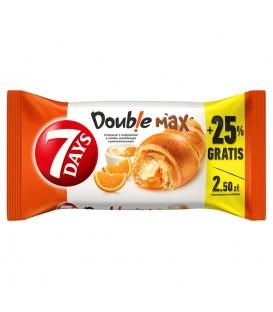 7 Days Doub!e Max Croissant z nadzieniem o smaku waniliowym i pomarańczowym 110 g
