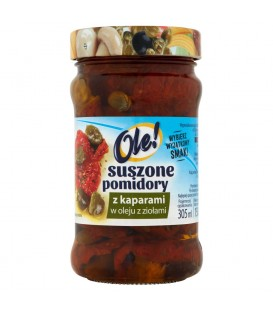 Ole! Suszone pomidory z kaparami w oleju z ziołami 270 g