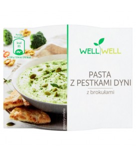 Well Well Pasta z pestkami dyni z brokułami 115 g