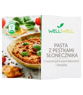 Well Well Pasta z pestkami słonecznika z suszonymi pomidorami i bazylią 115 g