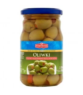Podravka Smaki kuchni śródziemnomorskiej Oliwki zielone nadziewane pastą paprykową 350 g