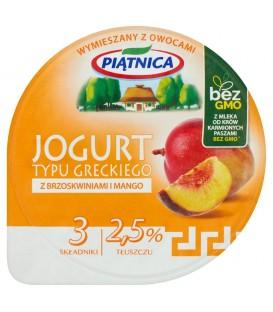 Piątnica Jogurt typu greckiego z brzoskwiniami i mango 150 g