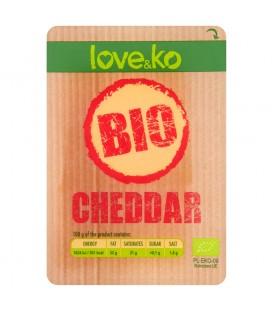 Love&ko Bio Cheddar Ser w plastrach 100 g