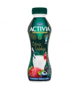 Danone Activia Letnia Kolekcja Truskawka owoce leśne Jogurt 300 g