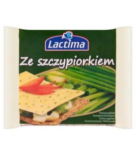 Lactima Ser topiony w plasterkach ze szczypiorkiem 130 g (8 sztuk)