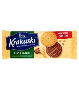 Krakuski Florianki Herbatniki w czekoladzie mlecznej z dodatkiem mąki pełnoziarnistej 171 g