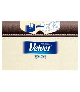 Velvet Travel Pack Chusteczki uniwersalne 2 warstwowe 60 sztuk