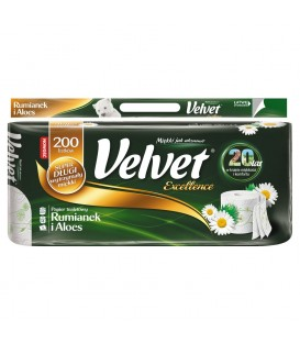 Velvet Excellence Rumianek i Aloes Papier toaletowy 8 rolek