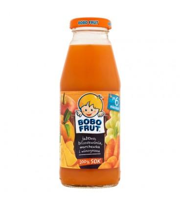 Bobo Frut 100% Sok jabłko brzoskwinia marchewka i winogrona po 6 miesiącu 300 ml