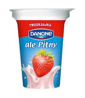 Danone ale Pitny Truskawkowy Napój jogurtowy 300 g