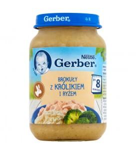 Gerber Brokuły z królikiem i ryżem po 8 miesiącu 190 g