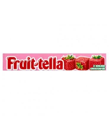 Fruittella Cukierki do żucia o smaku truskawkowym 41 g