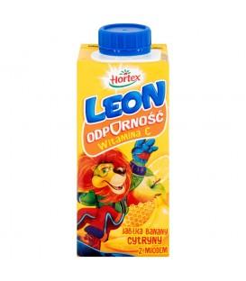 Hortex Leon Jabłka banany cytryny z miodem Nektar 200 ml