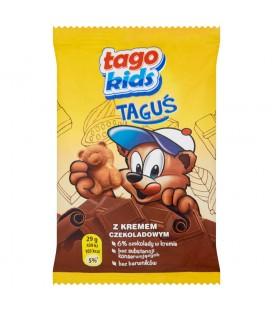 Tago Kids Taguś Ciastko biszkoptowe z kremem czekoladowym 29 g