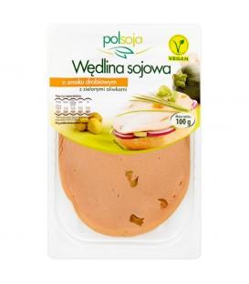 Polsoja Wędlina sojowa o smaku drobiowym z zielonymi oliwkami 100 g