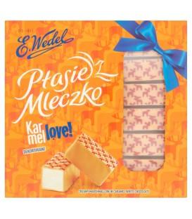 E. Wedel Karmellove! Ptasie Mleczko w czekoladzie białej karmelowej dekorowane 380 g