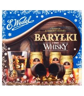 E. Wedel Baryłki z alkoholem w czekoladzie deserowej o smaku Whisky 200 g
