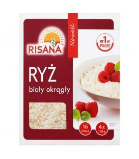 Risana Ryż biały okrągły 400 g (4 torebki)