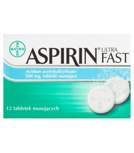 Aspirin Ultra Fast Tabletki musujące 12 tabletek