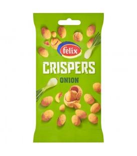 Felix Crispers Orzeszki ziemne smażone w skorupce o smaku cebulowym 70 g