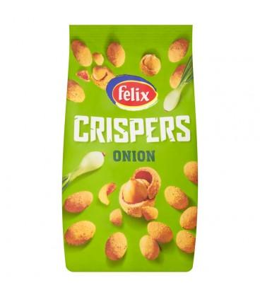Felix Crispers Orzeszki ziemne smażone w skorupce o smaku cebulowym 140 g