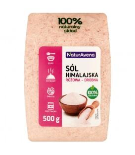 NaturAvena Sól himalajska różowa drobna 500 g