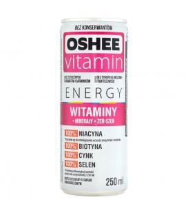 Oshee Vitamin Energy Witaminy Napój gazowany o smaku pomarańczowym 250 ml