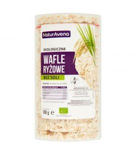 NaturAvena Ekologiczne wafle ryżowe bez soli 100 g