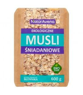 NaturAvena Ekologiczne musli śniadaniowe 600 g