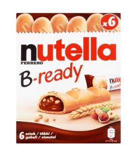 Nutella B-ready Wafelek z orzechami laskowymi i kakao oraz chrupkami 132 g (6 sztuk)