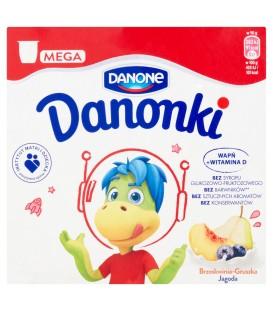 Danone Danonki Mega brzoskwinia-gruszka jagoda Twarożek 360 g (4 sztuki)