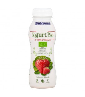 Bakoma Jogurt Bio z truskawkami 230 g