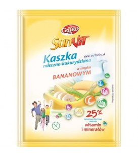 Celiko kaszka mleczno-kukurydziana banan b/g 50g