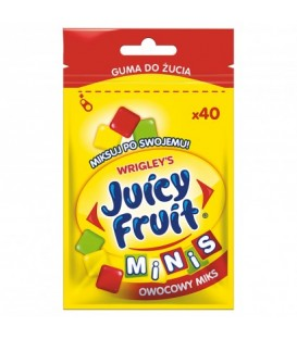 Juicy Fruit Owocowy mix 40 mini drażetek 28g