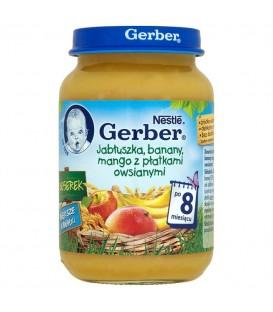 Gerber des. Jabł. banany, mango z pł. Owsia. 190g