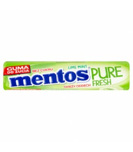 Mentos pure fresh lime mint roll 15,5g