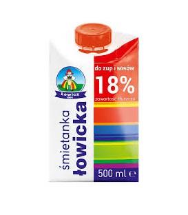 Łowicz Śmietanka UHT 18% Łowicka 500ml