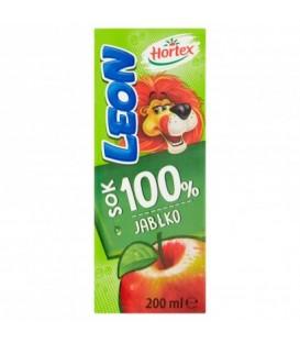 Leon jabłkowy 100% słomka 200ml