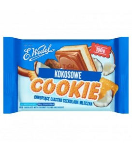 Wedel Czekolada Cookie Mleczna z Nadzie.Kokos.100g