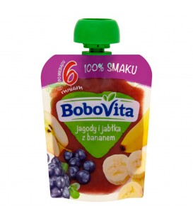 BoboVita Jagody i jabłka z bananem po 6 miesiącu 80 g