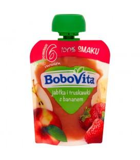 BoboVita Jabłka i truskawki z bananem po 6 miesiącu 80 g