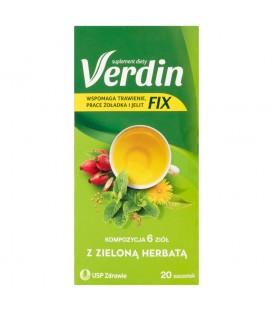 Verdin Fix Suplement diety kompozycja 6 ziół z zieloną herbatą 36 g (20 x 1,8 g)